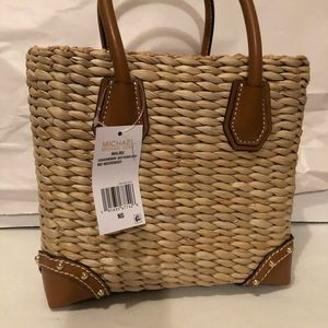 ccc60acc1a628c MICHAEL Michael Kors Bags - New Michael Kors Malibu Straw Tote Pineapple Bag